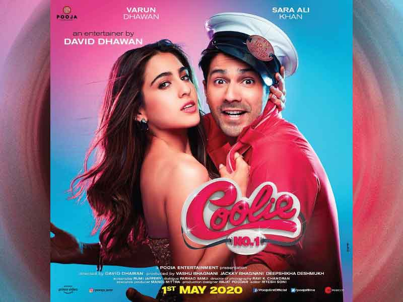 Varun Dhawan and Sara Ali Khan's Coolie No.1 to release on 1st May 2020.