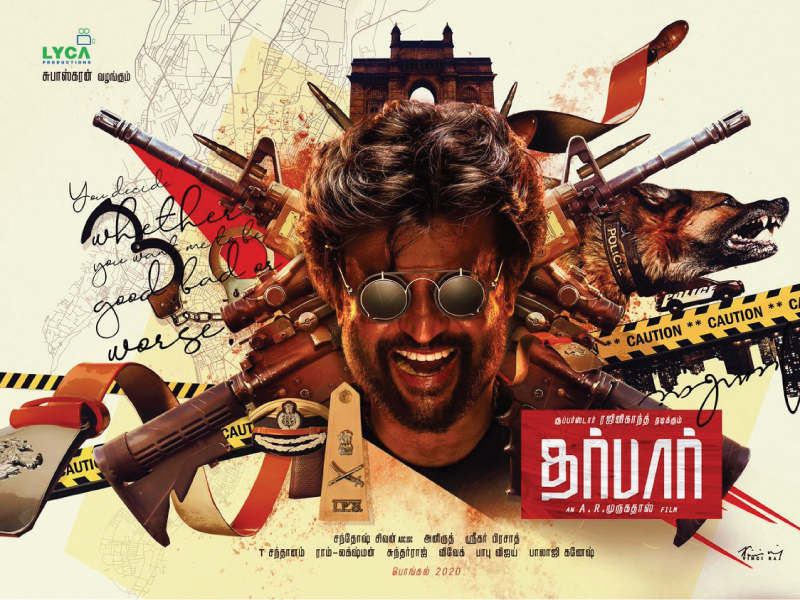 AR Murugadoss-Rajinikanth's 'Darbar' First Look Poster Out.