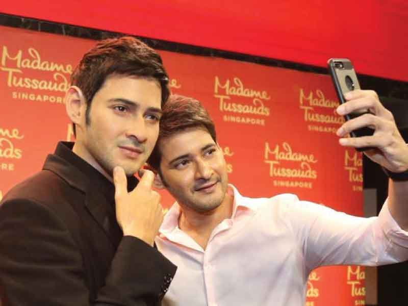 Mahesh Babu unveils his wax statue at Madame Tussauds.