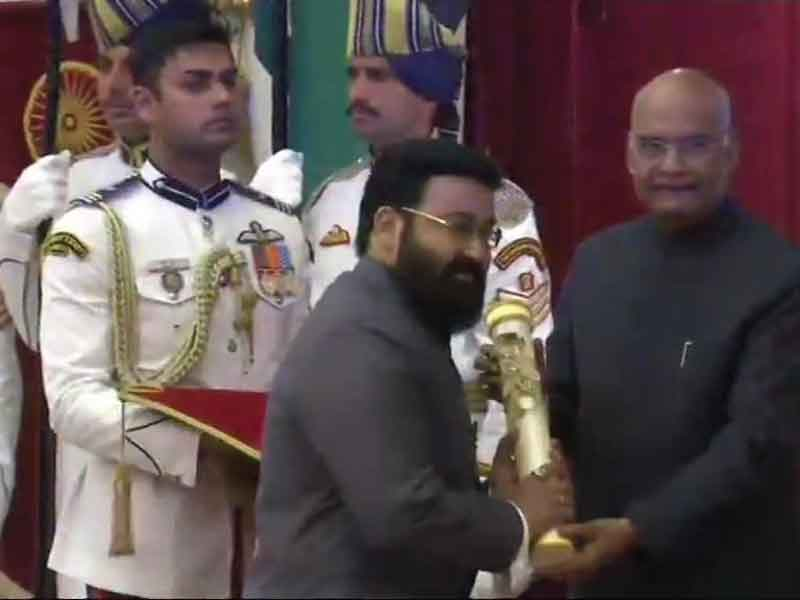 Actor Mohanlal received India's third-highest civilian award, Padma Bhushan.