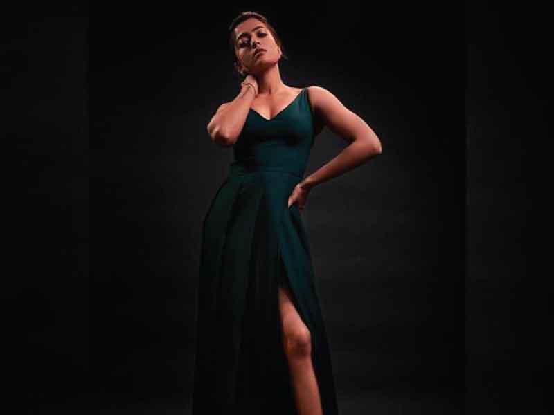 Rashmika Mandanna Spots A Green Gown Moviekoop