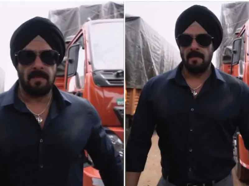 Salman Khan spots a sikh look for the upcoming film Antim