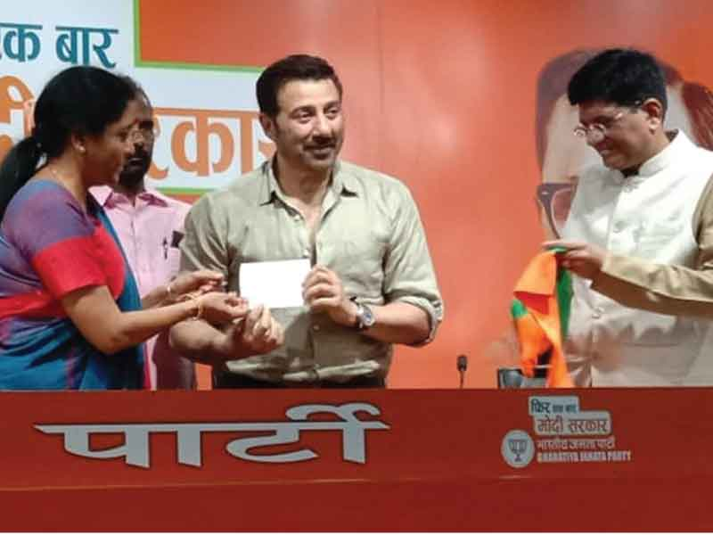Another celebrity joining politics: Actor Sunny Deol Joins BJP.