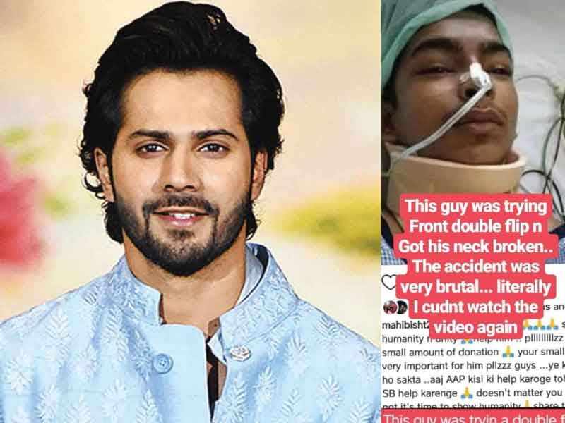 Varun Dhawan donates 5 lakh rupees to an injured dancer.