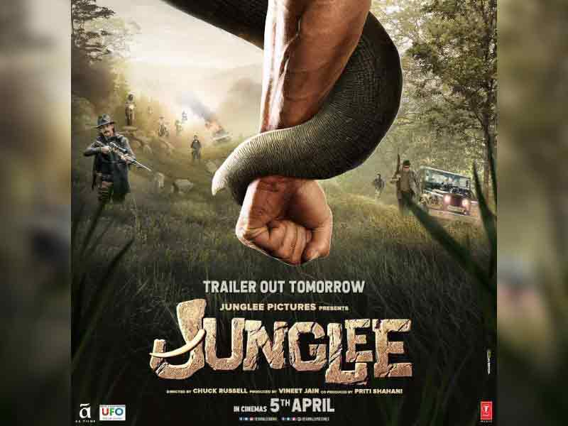 Makers of 'Junglee' unveil new poster depicting Vidyut Jammwal's bond with his elephant friend.