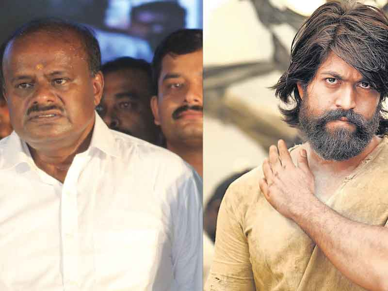 Karnataka CM Kumaraswamy warns KGF actor Yash to stay away from politics.