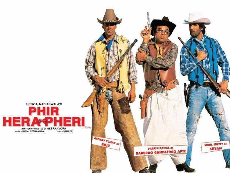 Comedy trio Akshay Kumar, Suniel Shetty And Paresh Rawal to star in Hera Pheri