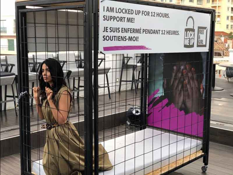 Mallika Sherawat Locked Up In A Cage?
