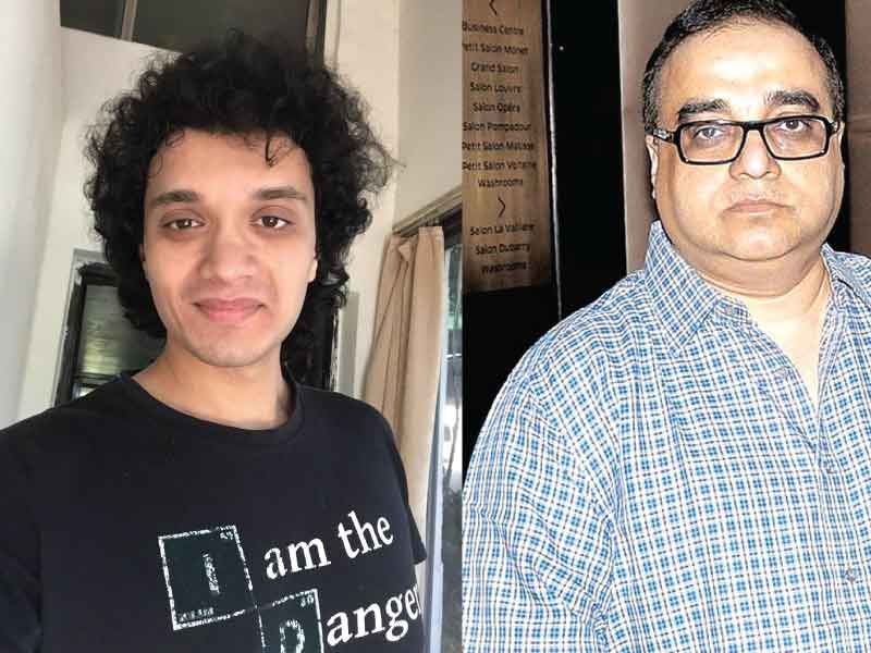 Filmmaker Rajkumar Santoshi introduces Mithun Chakraborty's son Namashi in his upcoming film 'Bad Boy'.