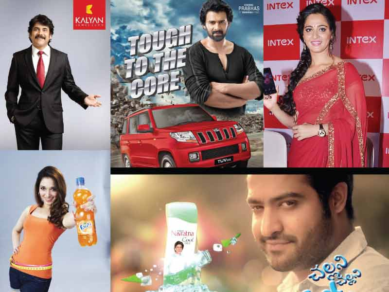 India grabbed hold onto Tollywood actors for product publicity